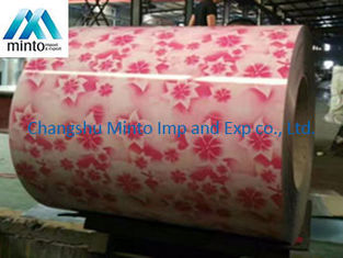 China ASTM A792 JIS G3321 Print PPGI Steel Coil Double Coating 15um - 20um Top Coat supplier