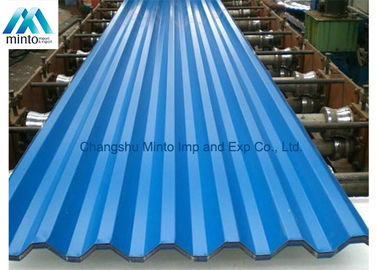 China Lightweight Coloured Corrugated Roofing Sheets DX51D JIS ASTM GB DIN 0.13mm - 6.0mm distributor